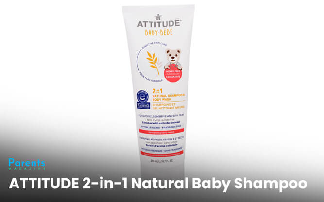 ATTITUDE 2-in-1 Natural Baby Shampoo
